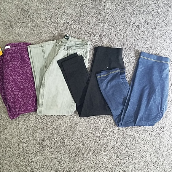 Multiples Other - Girls size 7 pants - lot with 4 pairs!